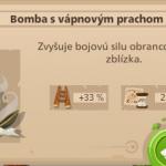 Bomba s vápnovým prachom